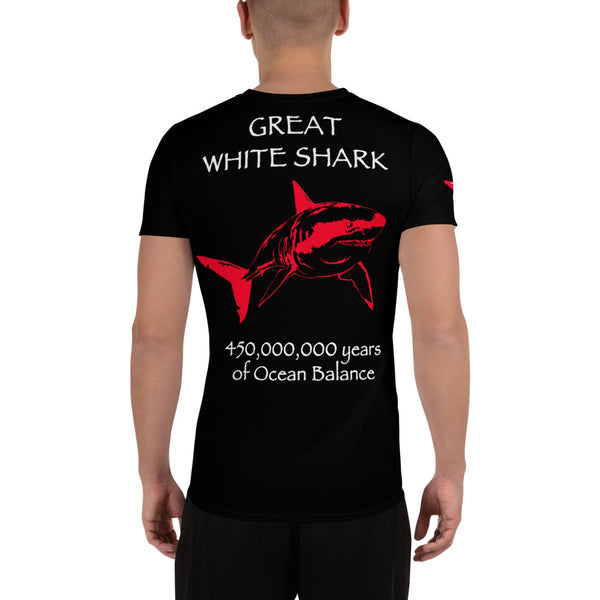 Human Race - Great White Shark survival design All-Over Print Men's Athletic T-shirt