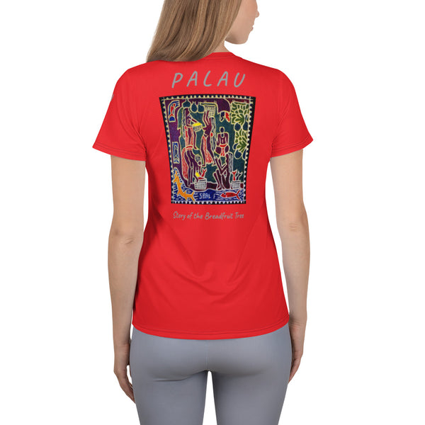Palau Legends - Story of the Breadfruit Tree  - All-Over Print Women's Athletic T-shirt
