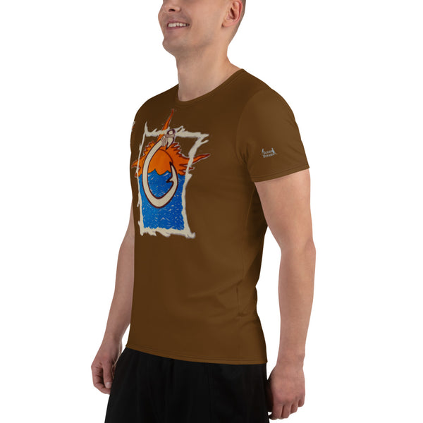 Oceania All-Over Print Men's Athletic T-shirt
