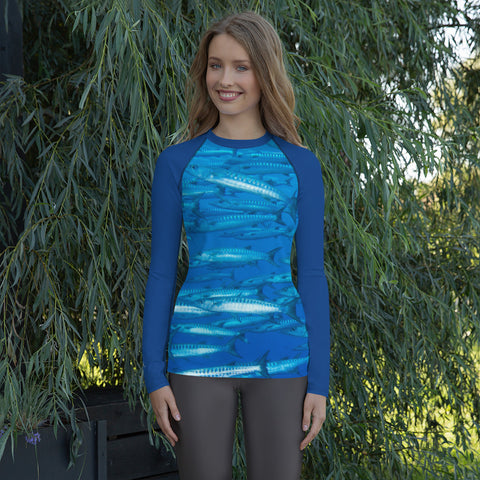 Barracuda Blue Women's Rash Guard