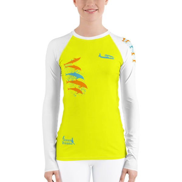 Dolphin Play Women's Rash Guard