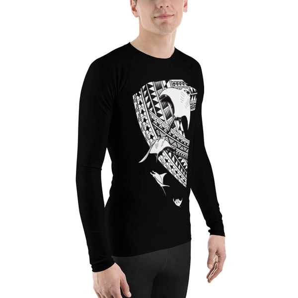 Manta Tattoo Men's Rash Guard - Design by Leo Pgram