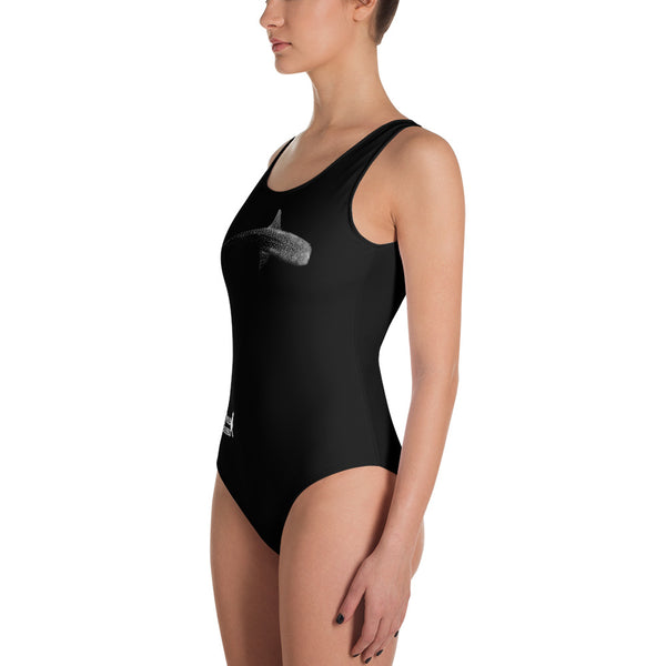 Whale Shark Below One-Piece Swimsuit