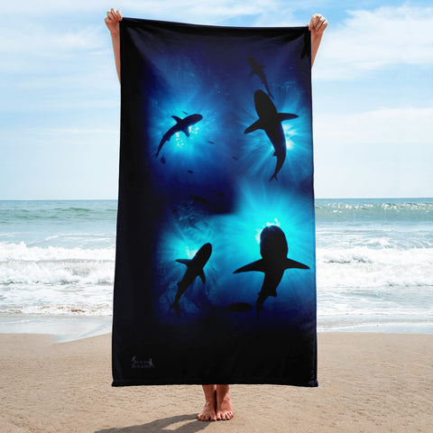 Shark Sunburst Towel