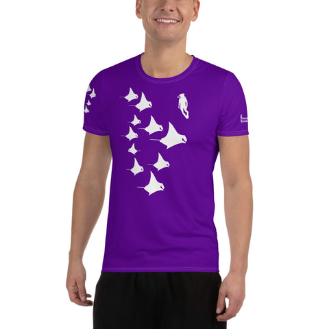 Manta Madness DriFit All-Over Print Men's Athletic T-Shirt