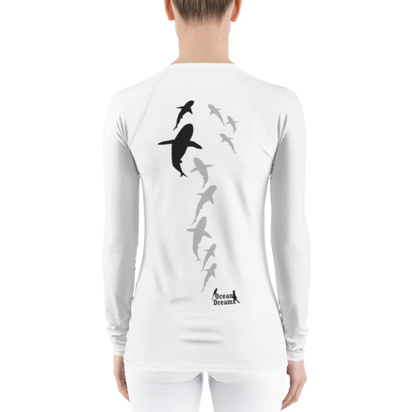 Shark Parade Women's Rash Guard