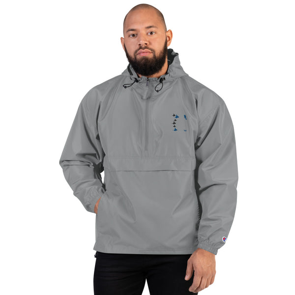 Manta Rays Embroidered Champion Packable Jacket