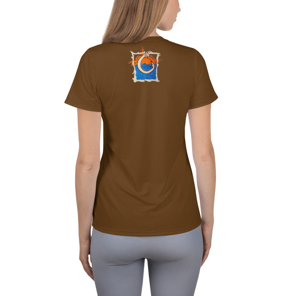 Oceania All-Over Print Women's Athletic T-shirt