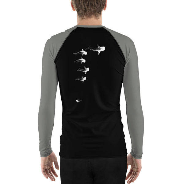 Whale Sharking Men's Rash Guard