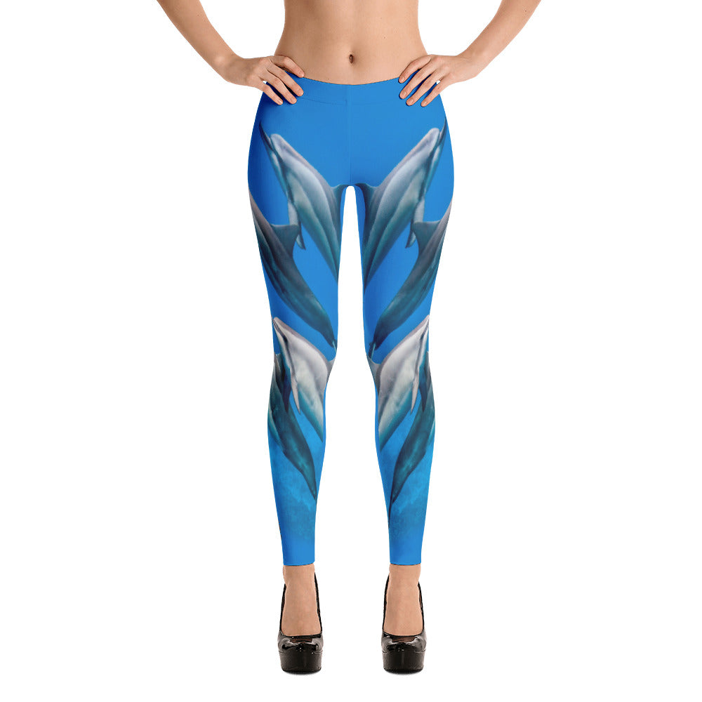 Dolphin Blue Leggings