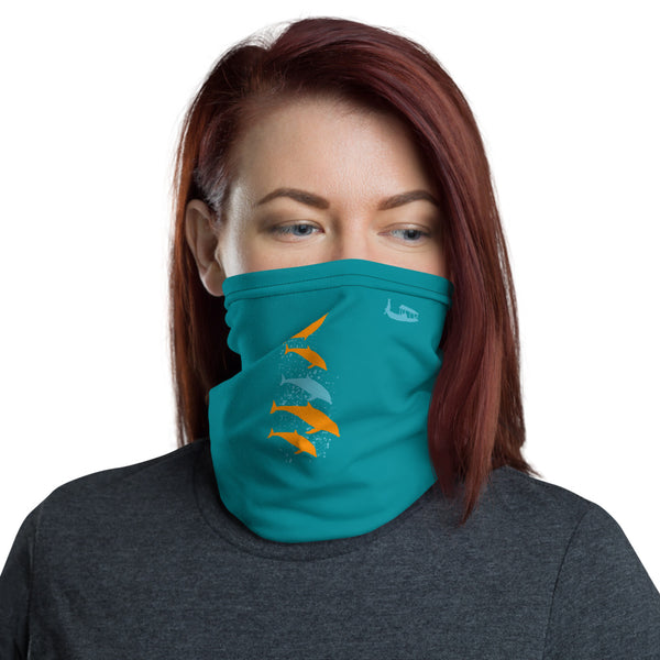 Down with Dolphins Face Mask