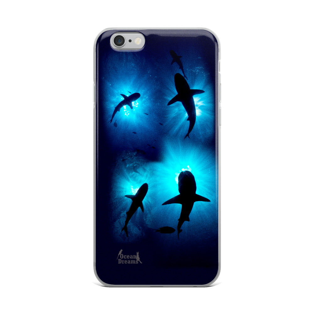 Sunburst Sharks iPhone Case