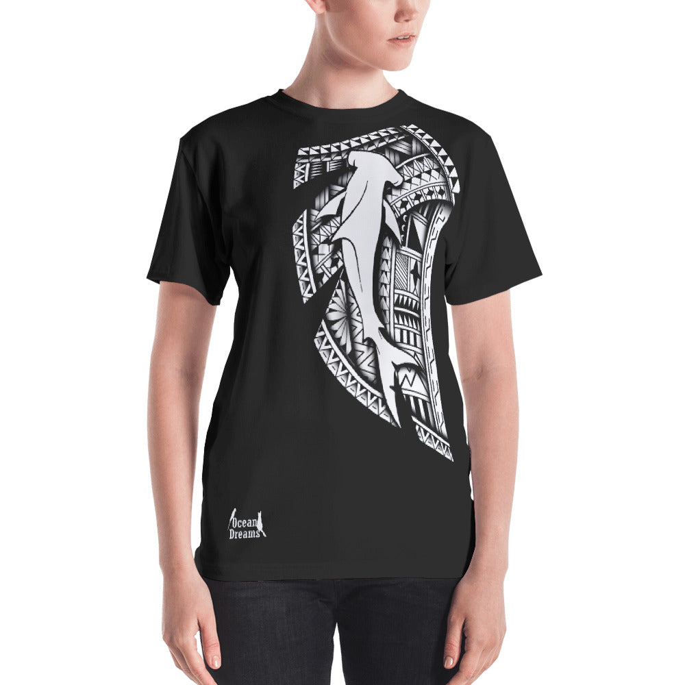 Tribal Hammerhead Leo Pugram Cut & Sew Women's T-shirt