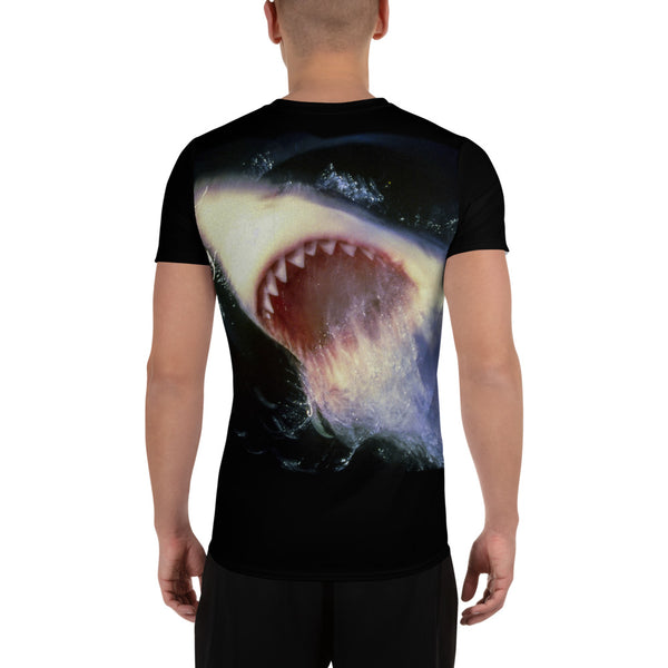 Great White Sharks All-Over Print Men's Athletic T-shirt