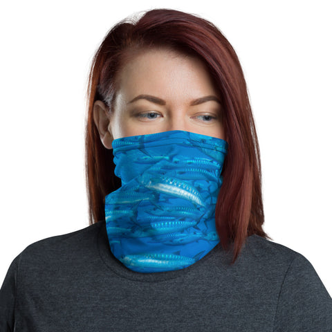 Blue Barracuda Face Mask