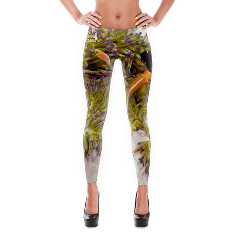 Clownfish and Anemone Swirl Leggings