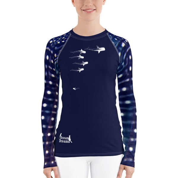 Whale Sharking Women's Rash Guard