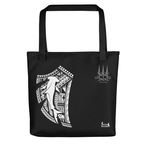 Tribal Hammerhead Leo Pugram design Tote bag