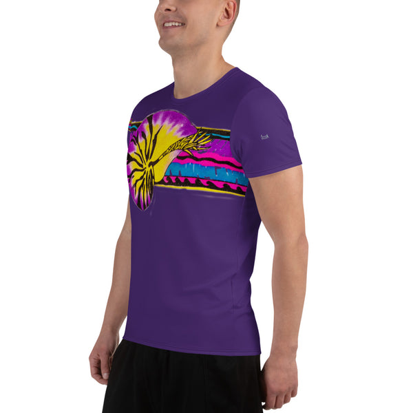 Micronesian Nautilus All-Over Print Men's Athletic T-shirt