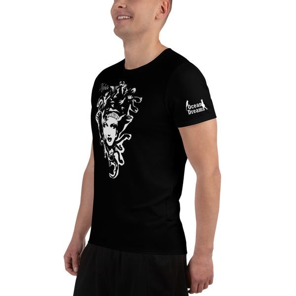 Medusa by Artist Yoko Tomita design All-Over Print Men's Athletic T-shirt