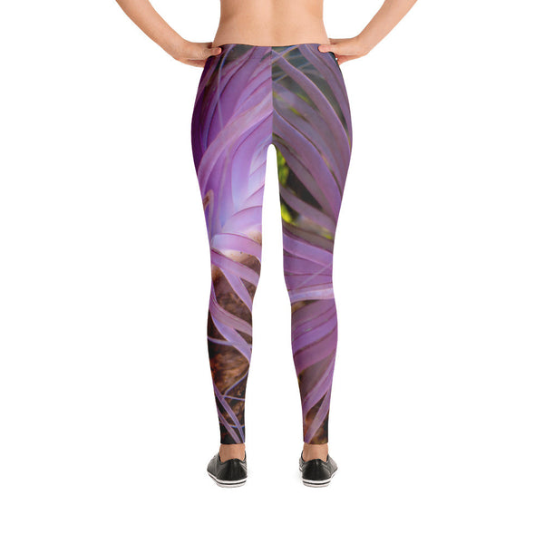Beautiful Purple Anemone Leggings