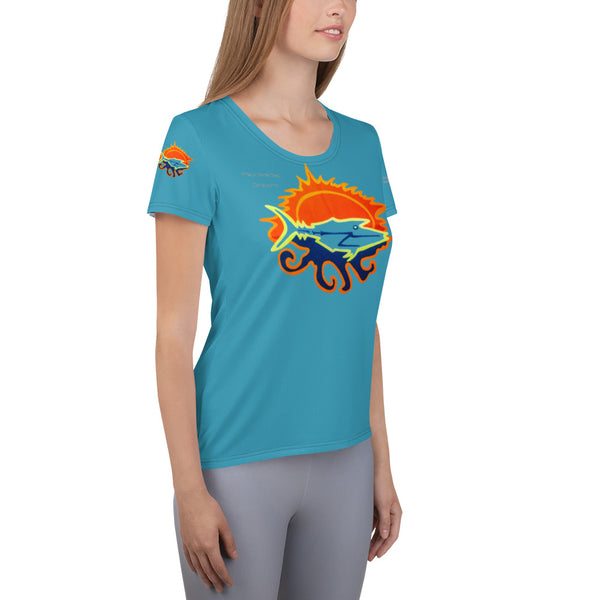 Micronesian Dream All-Over Print Women's Athletic T-shirt