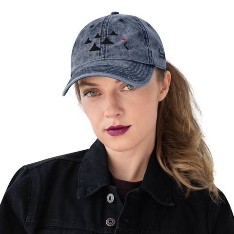 Eagle Ray City design Vintage Cotton Twill Cap