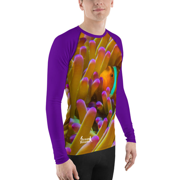 Purple-tipped anemone Men's Rash Guard