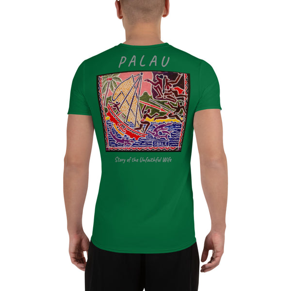 Palau Legends - Story of the Unfaithful Wife - All-Over Print Men's Athletic T-shirt