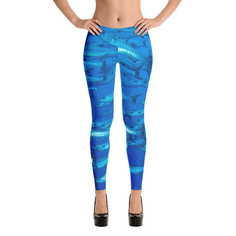 Blue Cudas Leggings