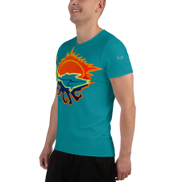 Micronesian Dream All-Over Print Men's Athletic T-shirt