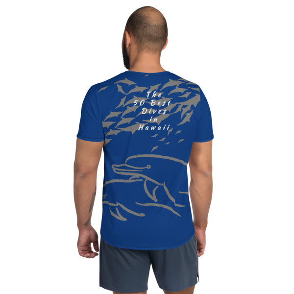 50 Best Hawaii All-Over Print Men's Athletic T-shirt