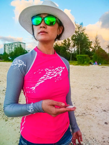Dolphin Dreaming Women's Rash Guard