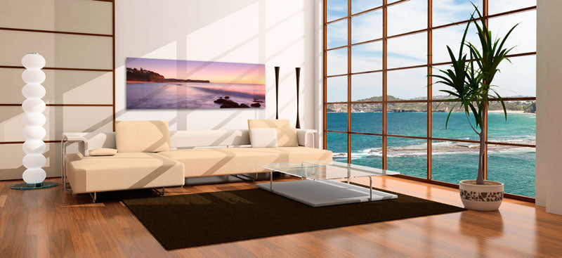 Panoramic Canvas Print Displayed in a Residential Interior