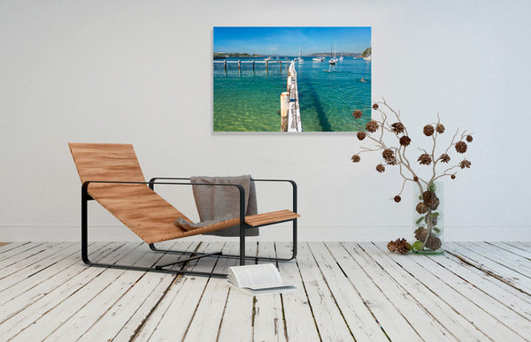 Little Manly Beach Print in room