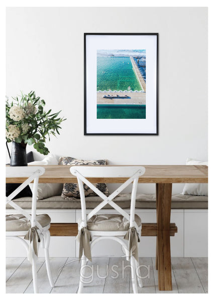 Art Paper Print - Merewether Pool NE3767