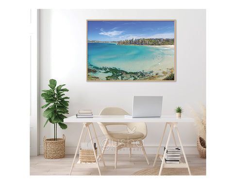 Float Frame Canvas 91x60cm Freshwater Beach SYD3664