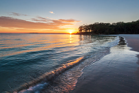 Sunrise from sheltered shores of Jervis Bay.
