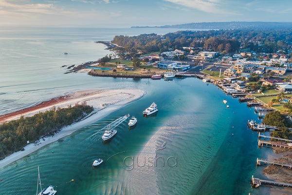 Aerial photo of Huskisson