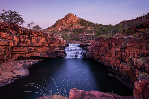 The impressive waterfall at Bell Gorge, an impressive sight following heavy wet season rains.