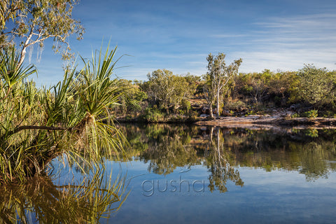 Cool, clear and crocodile free this waterhole oasis near Manning Gorge campground brings welcome relief from the outback heat.