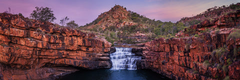 Sunset photo of Bell Gorge waterfall