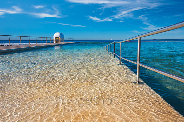 A photo of clear water captured at Merewether Pool, Australia