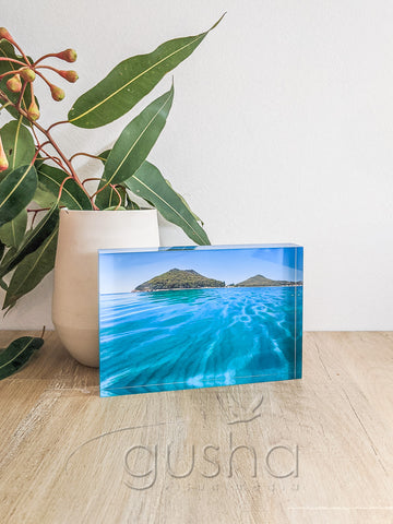 Acrylic desk block featuring Port Stephens PS0992