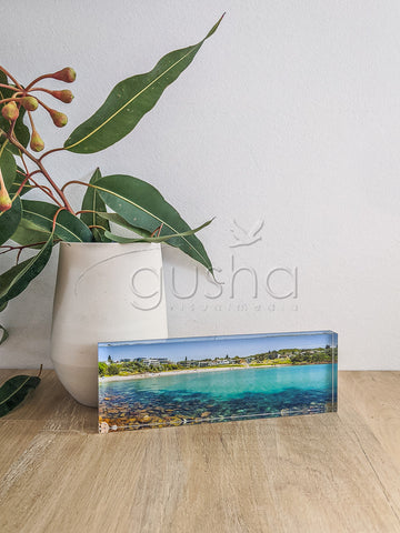 Acrylic desk block featuring Boat Harbour PS3015