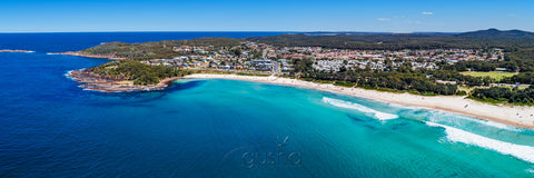 Aerial photo of Fingal Bay at Port Stephens, Australia.