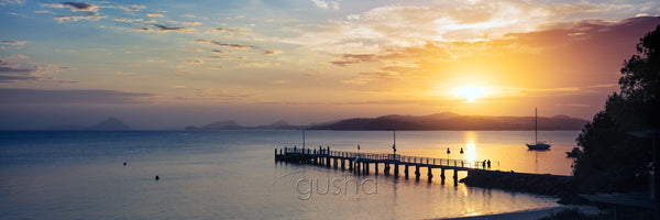 Photo of Salamander Bay wharf at sunrise