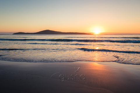 A sunrise photo captured at Fingal Bay at Port Stephens, Australia