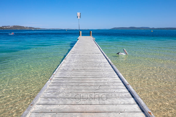 A photo of the jetty at Little Beach at Port Stephens, Australia
