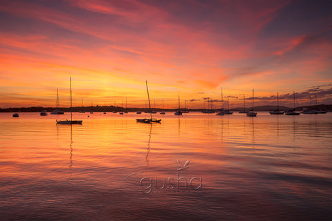 A sunset photo captured at Salamander Bay, Port Stephens, Australia